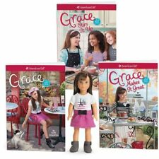 """NEW American Girl Limited Edition Grace 6"""" Mini Doll & 3-Book Gift Bundle Set"""
