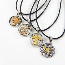 4 PCS/Set Multi-Styles Star/Cross/Tree Charms Pendant Long Necklace Men's Womens