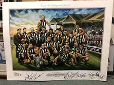 GREAT COLLINGWOOD TEAM OF THE CENTURY SIGNED BY 9 TOTC LEGENDS