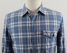 NEW J.Crew Slim Slub Cotton L/S Button Up Shirt MENS MEDIUM Blue Plaid