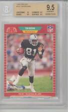 1989 Pro Set Football Tim Brown (HOF) (RC) (10 Centering/9.5 Subs) (#183) BGS9.5