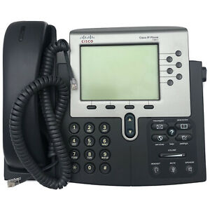 Cisco CP-7961G IP Business Desk Phone With Handset, Curly Cord & Phone Stand