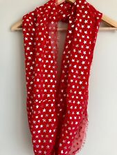 Target Red 4th of July Silver Star Scarf