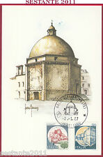 ITALIA MAXIMUM MAXI CARD 1987 IL DUOMO ANNULLO FILATELICO GIULIANOVA TE B320
