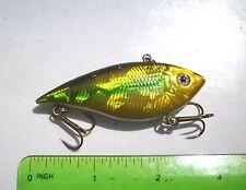 New listing 1pc Golden Emerald 3/8oz Tournament Trap Bass/Walleye Lipless Crankbait,Rattle