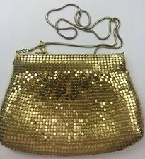 Vintage Chainmail Gold Purse Formal Dressy Metal Chain Strap