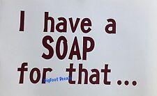 Soap Ointment Spa Healing Decal Car Truck SUV Vinyl Window Sticker