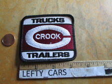 TRUCKS CROOK TRAILERS EMBROIDERED CLOTH VINTAGE PATCH - SEW ON TYPE