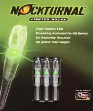 Nockturnal S Green 3 Pack - Lighted Nock