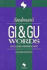 Stedman's GI/GU Medical Words Nephrology Transcription 4th Edition Book Stedman