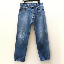 Vintage Levis 501xx Mens Button Fly Jeans Made in USA Size 34x32 Measures 31x29