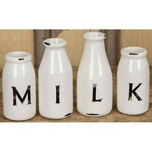 Dolomite 4-pc set milk bottle vase