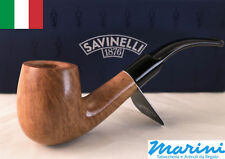Smoking pipes pipe Savinelli 607 KS curve briar natural waxed wood made in Italy