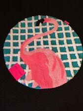 """BETSEY JOHNSON Flamingo Round Bath Rug Size 26"""""""