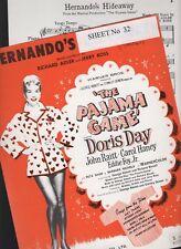 60s / 70s SHEET MUSIC HERNANDO'S HIDEAWAY Alma Cogan DORIS DAY Pajama Game