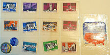(14) 1939 Golden Gate Int'l Expo World's Fair CINDERELLA POSTER STAMPS, STICKERS