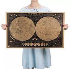 Astronomie Mond Wandbild Vintage Weltall Universum Poster Deko Sterne Lehrtafel
