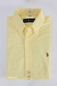 NWT Polo Ralph Lauren Men Long Sleeve Button Down Oxford/Sport Shirt MSRP $98.00