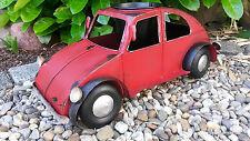 Gartenfigur Auto Käfer Metall Pflanztopf Pflanzschale Blumenschale Deko Garten