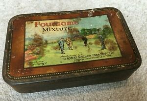 1930's Foursome Mixture Tobacco Tin from Robert Sinclair Tobacco Co Ltd