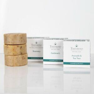 Organic Trevarno - Cleanse & Protect Soap Trio 3 x 75g