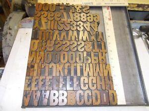 Letterpress Wood Type - 8 Line HAMILTON CAP FONT - EXCELLENT CONDITION