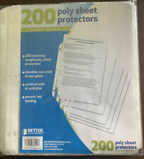 Better Office Products 81550 Poly Sheet Protectors 200 Pieces Acid Free