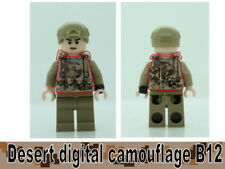 Desert Digital Camo B12 Tactical Vest for LEGO army military brick minifigures