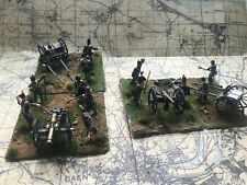 1/72 scale British Waterloo artillery painted and based.