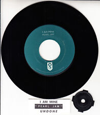 "PEARL JAM  I Am Mine 7"" 45 rpm vinyl record + juke box title strip RARE!"