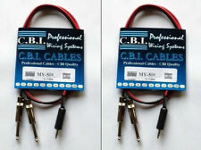 "(2) NEW CBI Male 1/8"" TRS to Dual Male 1/4"" Mono 5 Ft MP3/IPOD/CD Cable MY501-5"