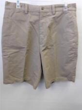 MENS Turnbury flat front tan ribbed cotton GOLF SHORTS sz 33 dress preppy CLEAN