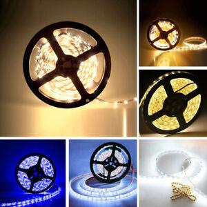300 LED Strips Light 1/2/3/5M 12V Adapter Sticky Back Fairy Lamp Xmas Party Deco