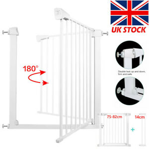 Baby & Pet Safety Gate Fit STAIR HALLWAY 75-96CM 76CM Height-Extra Wide Pressure