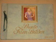 "1930s Bunte Film Bilder ""Colorful Movie Pictures"" Cigarette Card Album VERY NICE"