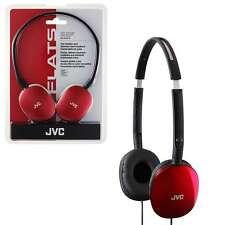 JVC HAS-160 Flats Foldable Lightweight Red Over Head Headphones Earphones