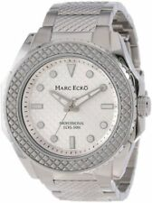 Marc Ecko Mens The Hirst Classic Textured Bezel Stainless Steel Watch M15037G1