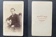 Schuhmann, Carlsruhe, Jeune homme aux traits asiatiques, circa 1870 CDV vintage