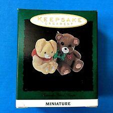 """Hallmark """"Friends Need Hugs"""" Miniature ornament 1994"""