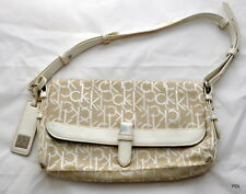 Calvin Klein Baguette Cream Hand Bag - Used