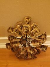 NEW FLOWER METAL HOME WALL ART DISPLAY PLAQUE petals brown display decor accent