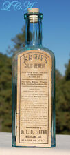 Antique DR LeGear's COLIC REMEDY w/ OPIUM original VETERINARY Medicine bottle