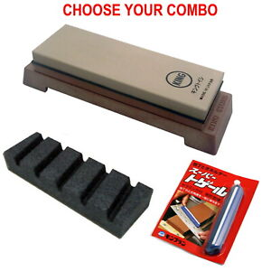 KING KW65 1000/6000 Grit Japanese Sharpening Stone Whetstone Combo - Choose Set