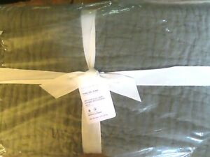 POTTERY BARN Belgian Flax Linen Handcrafted Quilt~KING/C KING-LODEN-$349~NWT