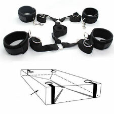 Under Bed Restraint System Bondage Strap Rope Cuffs Adult Kit Sexy Set Fetish