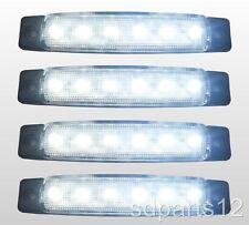 4 x 12V,12 Volts BLANC 6 LED FEUX DE GABARIT CAMION CARAVANE CHASSIS REMORQUES