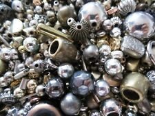 1000 x METAL BEADS SELECTION MIX CRAFTS JEWELLERY MAKING BEADING