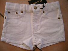 (C405) Finger in the Nose Girls Jeans Hose Hot Pants mit Logo Aufnäher gr.116