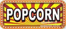 "Popcorn 18"" Decal Concession Lettering Food Truck Restaurant Vinyl Sticker"