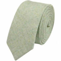 Vintage Vert pour Hommes Tweed / Laine Skinny Cravate Excellent Qualité &